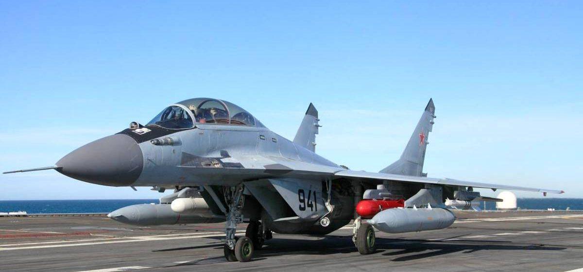 Звено МиГов-29 из Барановичей перелетело на аэродром в Мачулищи