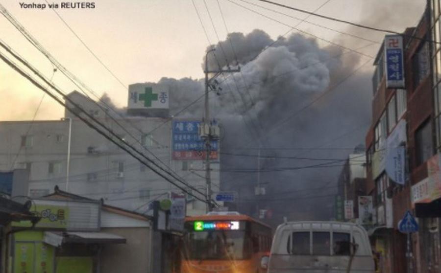 В Южной Корее в больнице произошел крупный пожар: более 40 погибших