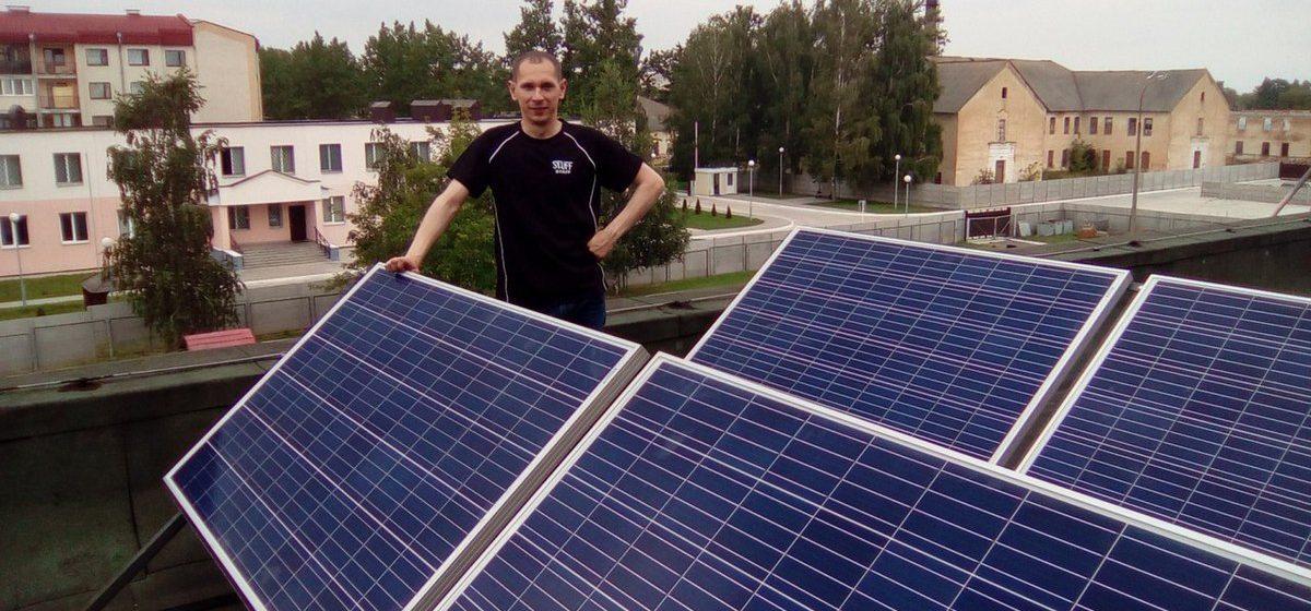 В Барановичах одна из гимназий подключилась к энергии солнца