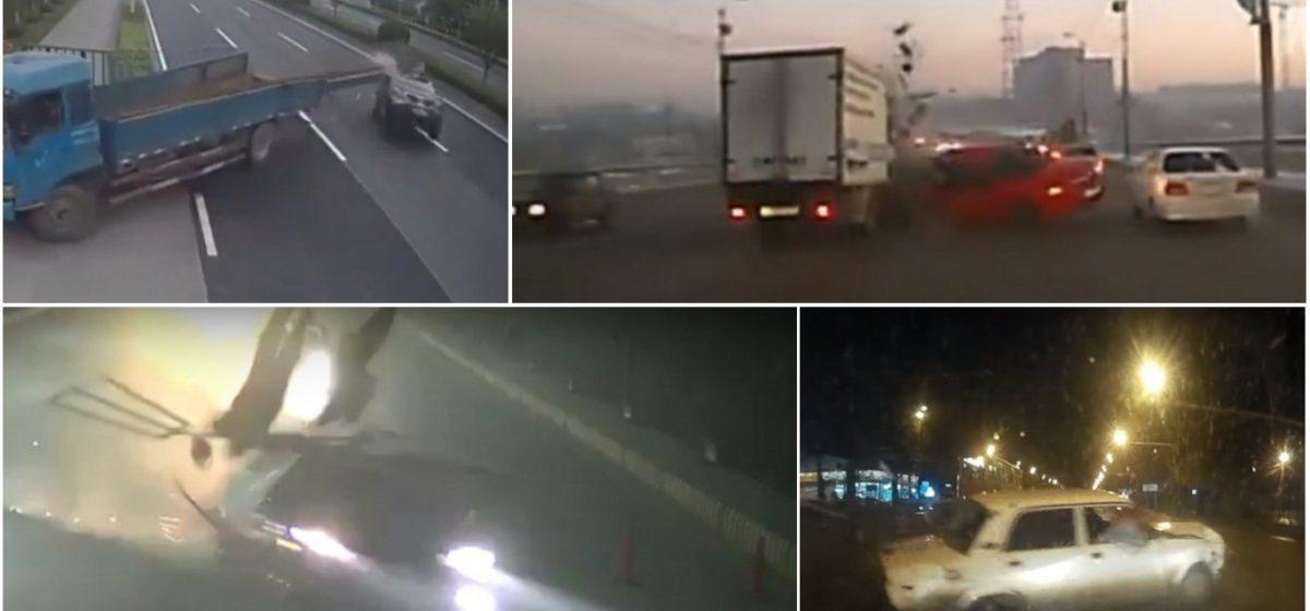ТОП-5 ужасных аварий за неделю: сбил двух полицейских, швеллер-убийца, неудачный обгон (видео 18+)