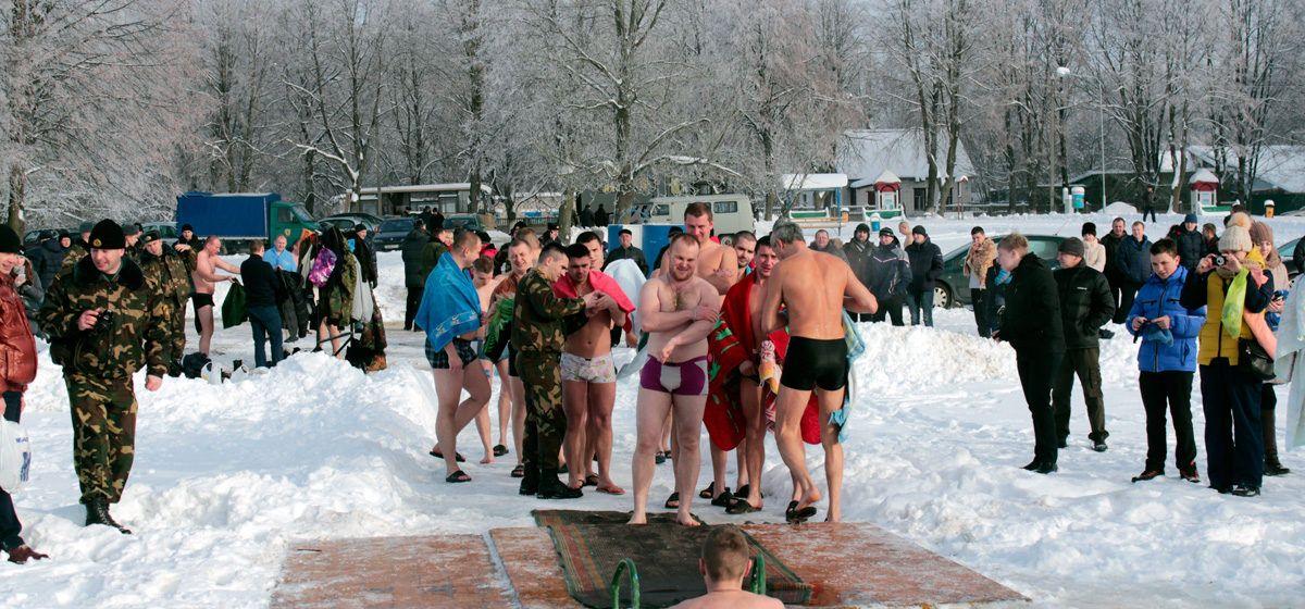 Где в Барановичском регионе можно будет окунуться в прорубь на Крещение