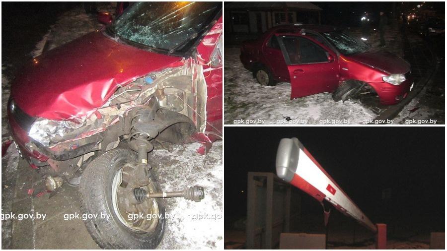 Россиянин на автомобиле пытался прорваться через пункт пропуска из Беларуси в Польшу (фото/видео)
