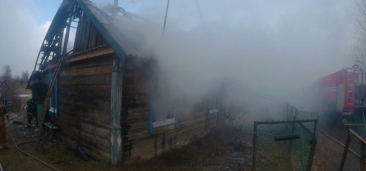 В Барановичском районе сгорел жилой дом, пока хозяин был на работе