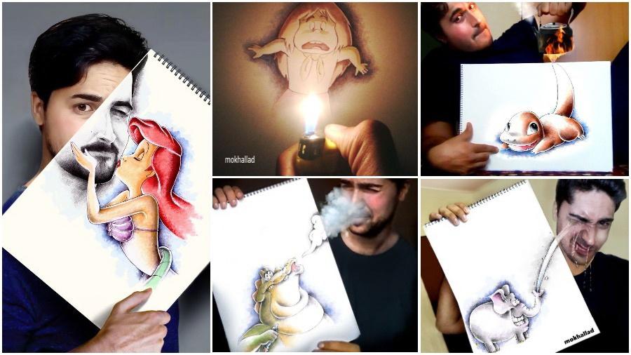 Художник «оживляет» рисунки, комбинируя их с реальной жизнью (фото)