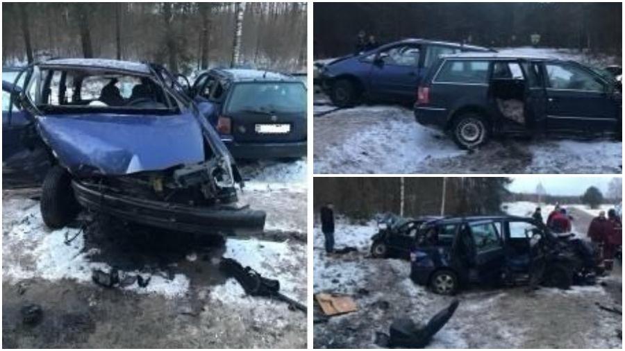 В Лидском районе лоб в лоб столкнулись «Фольксваген» и «Форд», пострадали два человека