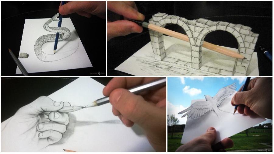 Ожившее творчество: итальянский художник создает трехмерные картины