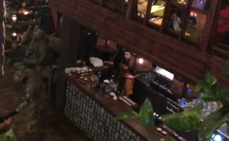 В киевском ресторане жестко задержали Михаила Саакашвили (видео)