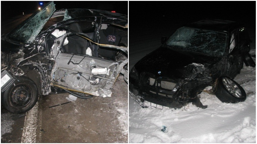 В Пуховичском районе столкнулись «Пежо 107» и «БМВ Х5», погибла годовалая девочка