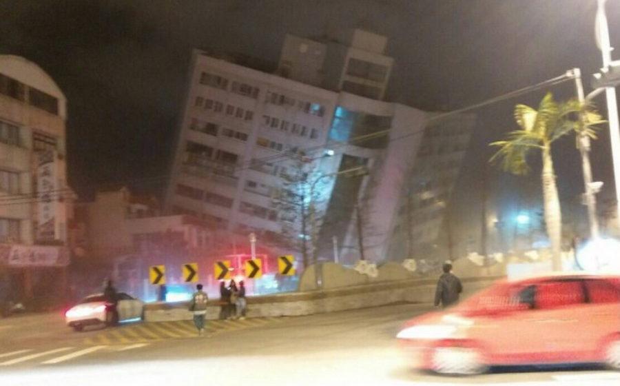 На Тайване произошло сильное землетрясение, пострадали сотни человек (фото/видео)