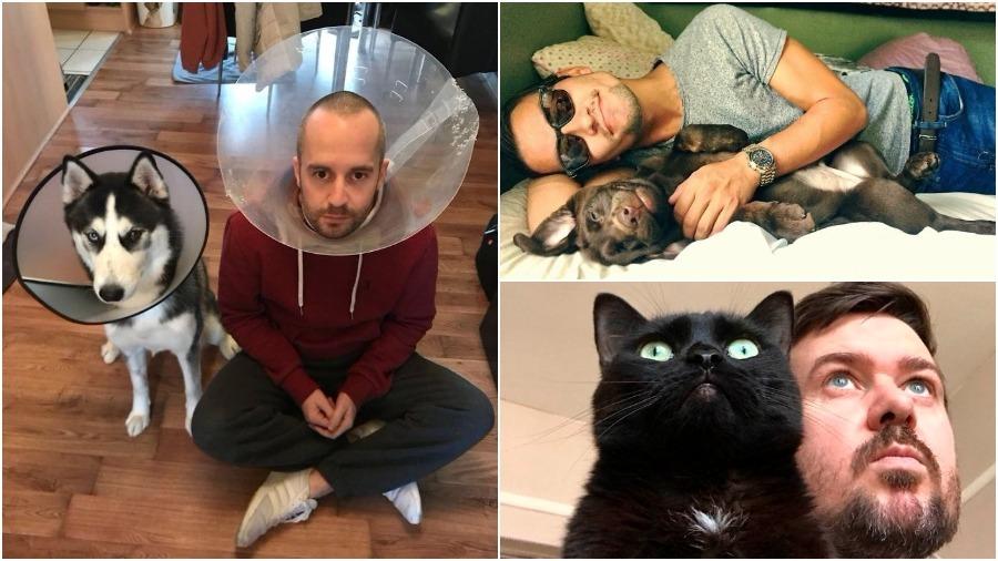 Подборка фото домашних животных и их хозяев, которые любят пародировать друг друга