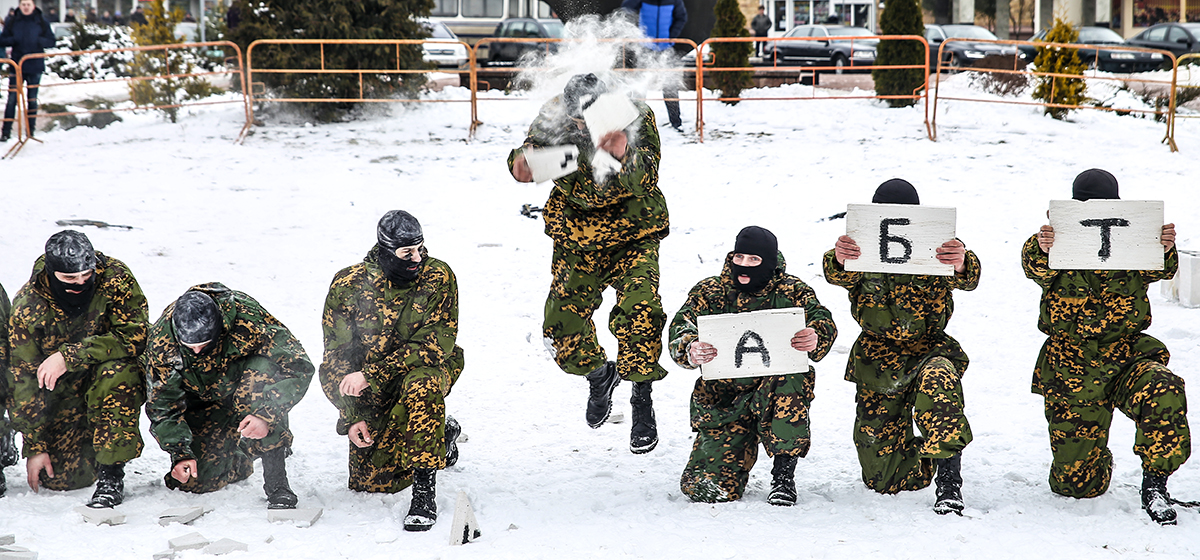 Фоторепортаж. В Барановичах 127-я гвардейская бригада связи отметила 75-летний юбилей
