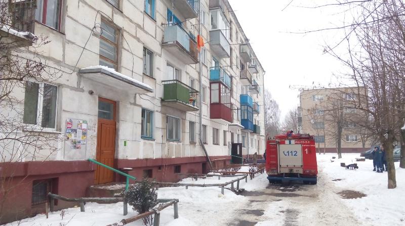 В Барановичах в многоквартирном доме на Коммунистической загорелась электропроводка