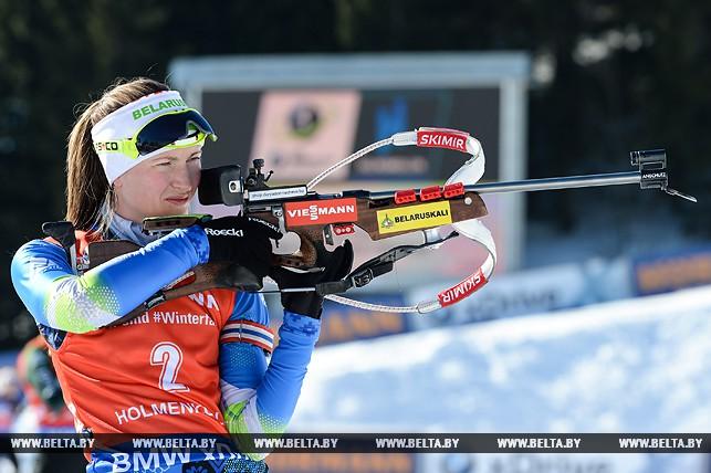 Домрачева выиграла гонку преследования на этапе Кубка мира в Холменколлене