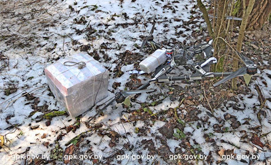 Квадрокоптер контрабандистов перевозил 300 пачек сигарет через белорусско-польскую границу