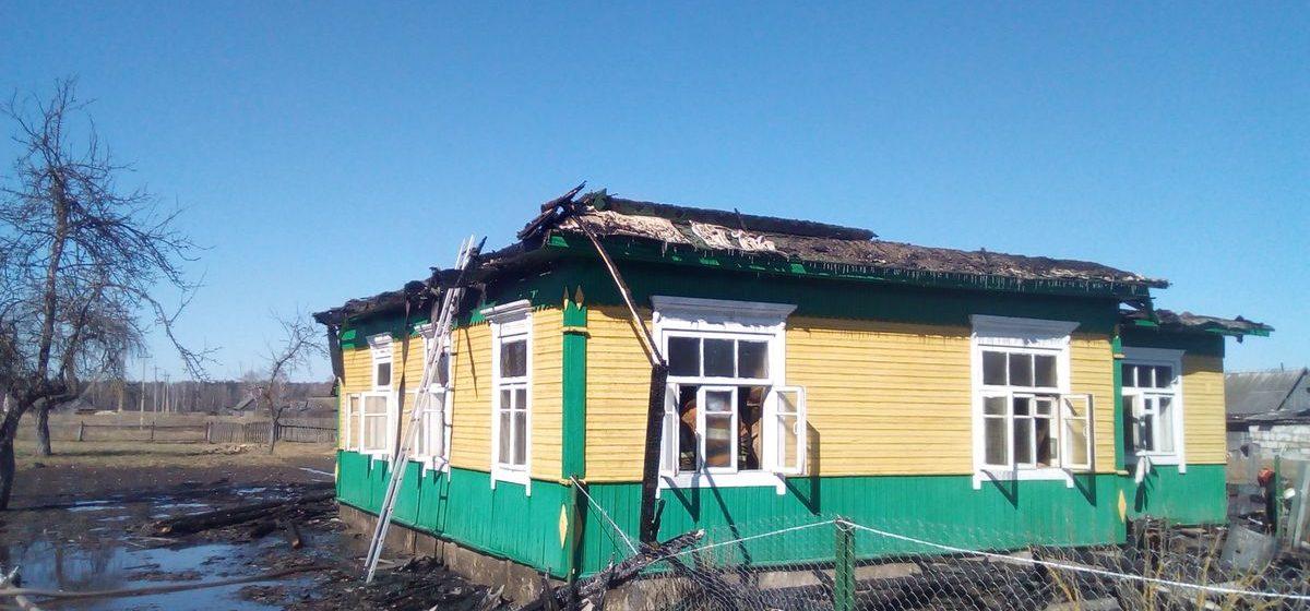 В Ляховичском районе горели два дома