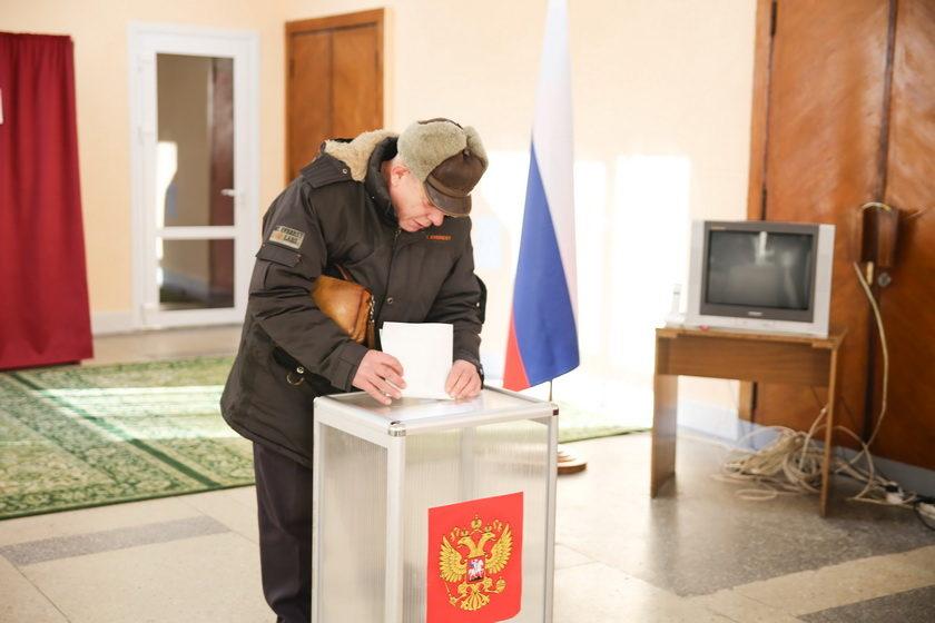 Как в Барановичах проходят выборы российского президента