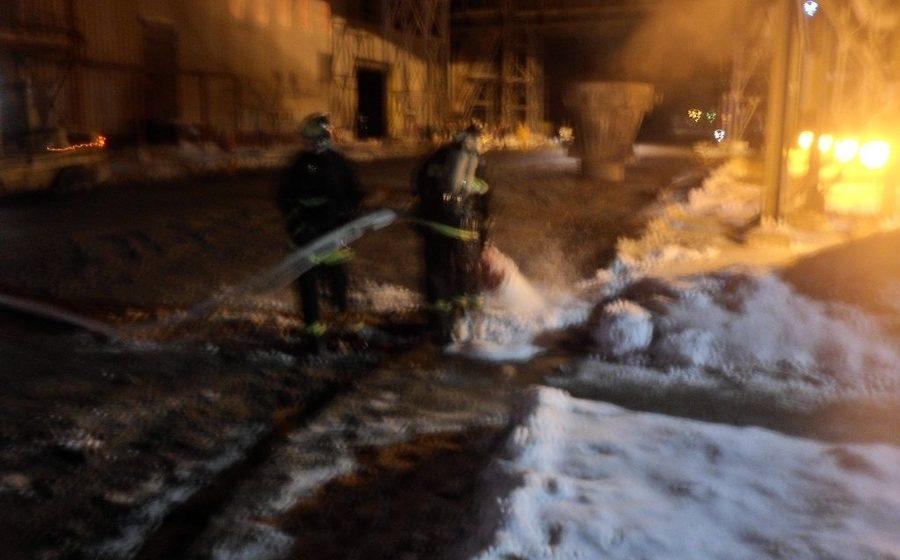 В Жлобине на Белорусском металлургическом заводе произошел пожар