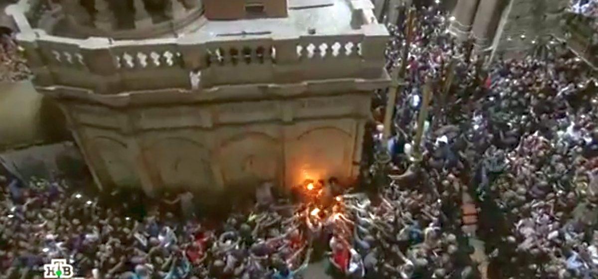 В Иерусалиме сошел Благодатный огонь (видео)