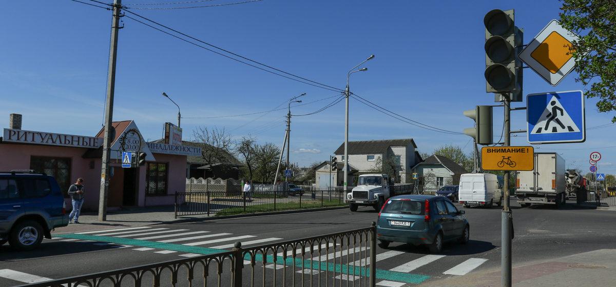 В Барановичах на одном из перекрестков изменится дорожная разметка
