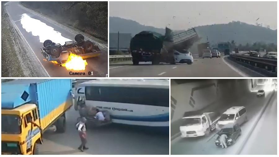 ТОП-5 ужасных аварий за неделю: горящий молоковоз, авария в туннеле, труба упала на автобус (видео 18+)