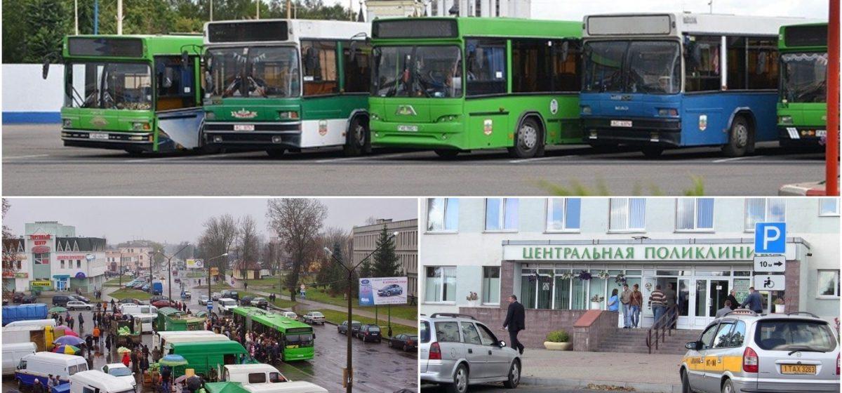 Как на майские выходные в Барановичах будут курсировать автобусы, работать рынки и учреждения здравоохранения