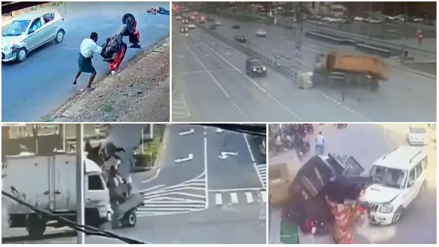 ТОП-5 ужасных аварий за неделю: чудо-женщина, грузовик со щебнем, грузовичок против мотоповозки (видео 18+)
