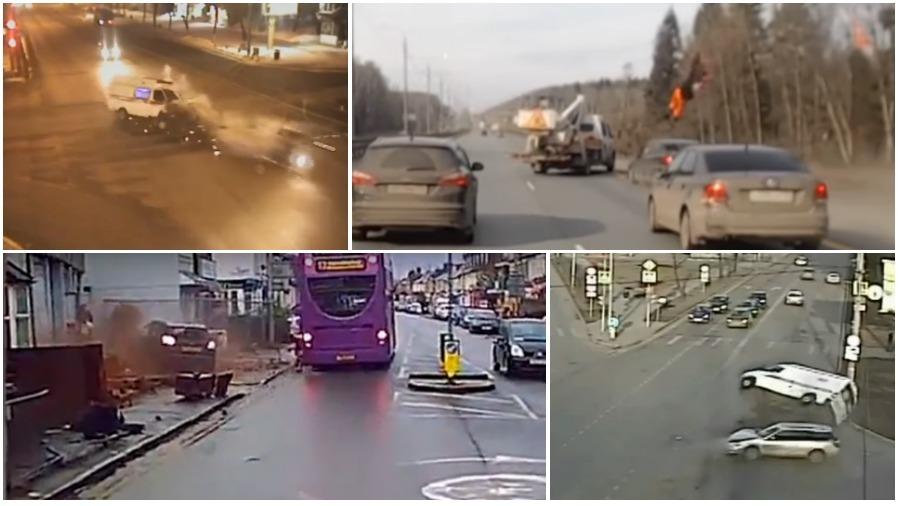 ТОП-5 ужасных аварий за неделю: сбил дорожного рабочего, протаранил скорую, попал под фуру (видео 18+)