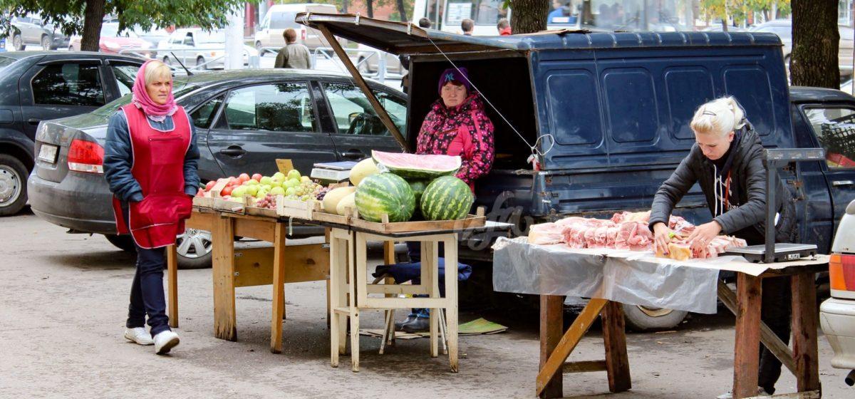 В Барановичах выявляют факты торговли продуктами в неустановленных местах