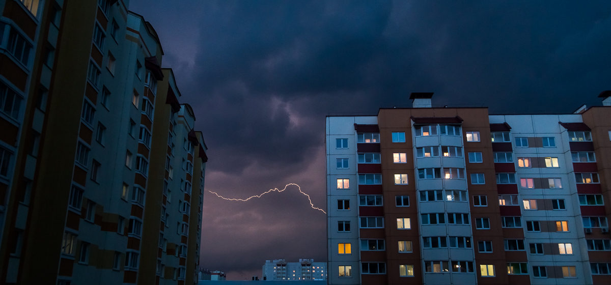 Из-за ливней и града в Беларуси на 16 июля объявлен оранжевый уровень опасности