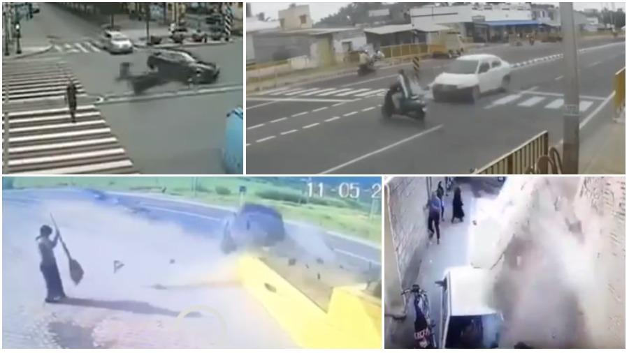 ТОП-5 аварий за неделю: неудачно перестроился, стена упала на машину, сбил на пешеходном переходе (видео 18+)