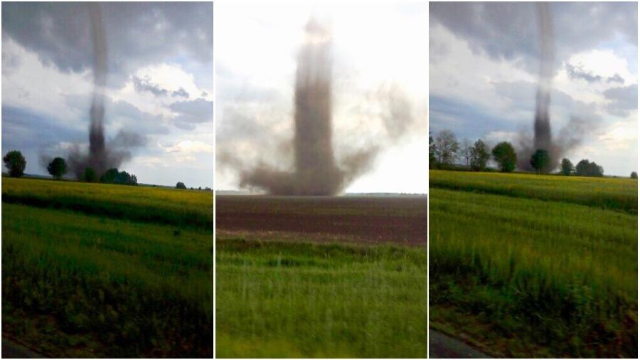 Видеофакт. В Гомельской области очевидцы сняли торнадо