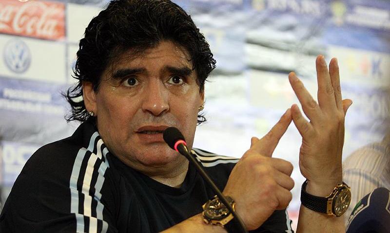 Марадона пробыл день в Беларуси и улетел в Аргентину