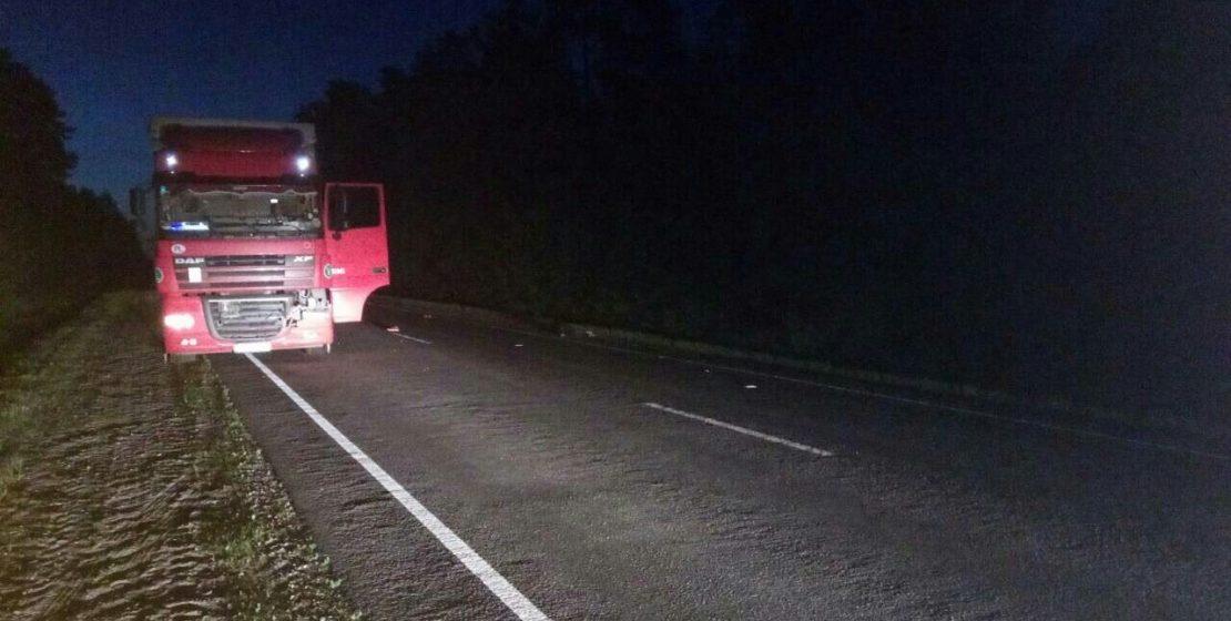 В Ляховичском районе фура насмерть сбила жителя Барановичей, который шел посреди дороги