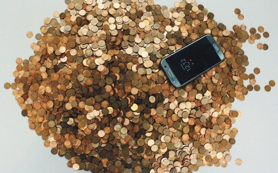 Фотофакт. В Минске мужчина принес в банк 13 кг однокопеечных монет и попросил зачислить деньги на карт-счет