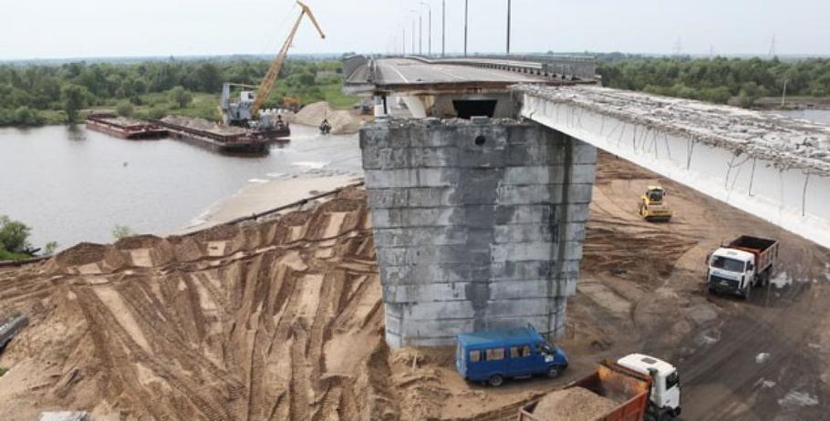 Треснувший мост через Припять между Туровом и Житковичами взорвут 25 мая (фото)