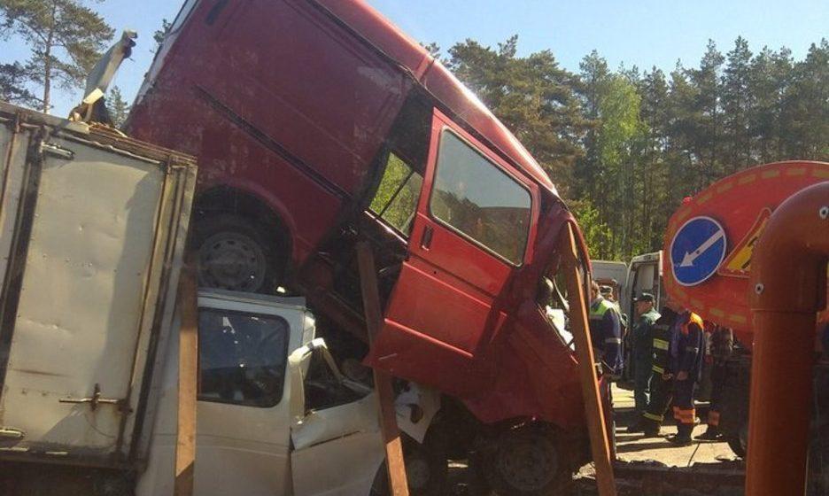 В Минске на трассе М4 произошла жуткая авария — пострадали три человека (фото)