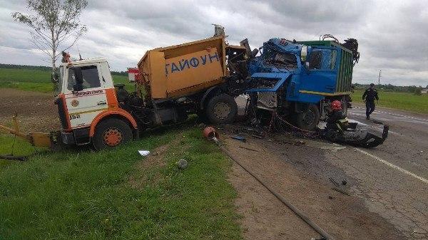 В Бешенковичском районе мусоровоз протаранил «МАЗ» прикрытия — погиб дорожный рабочий