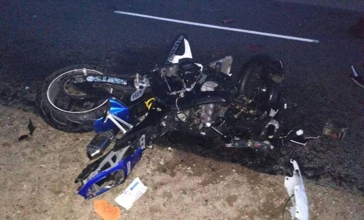 В Барановичском районе бесправник-мотоциклист врезался в автомобиль