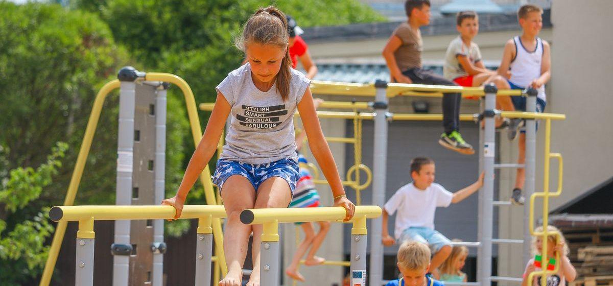В Барановичах открыли новую спортивно-игровую площадку