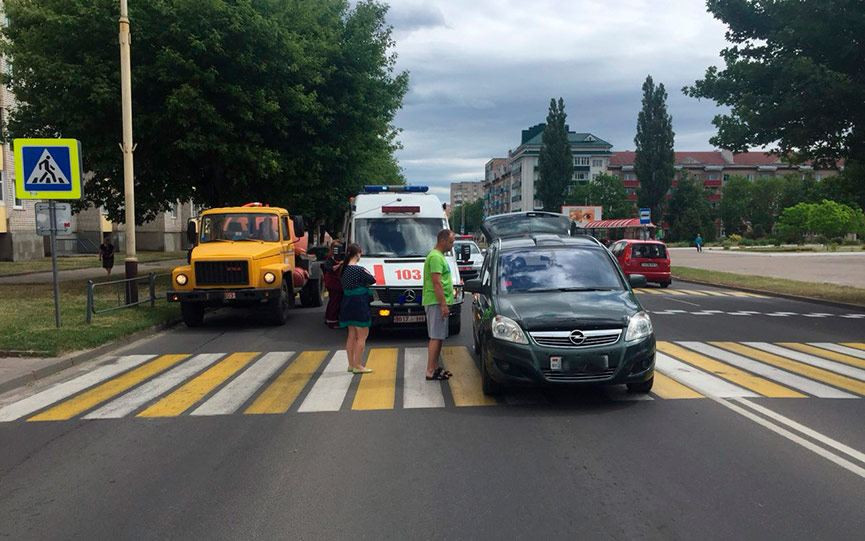 В Барановичах «Опель» сбил 9-летнюю девочку