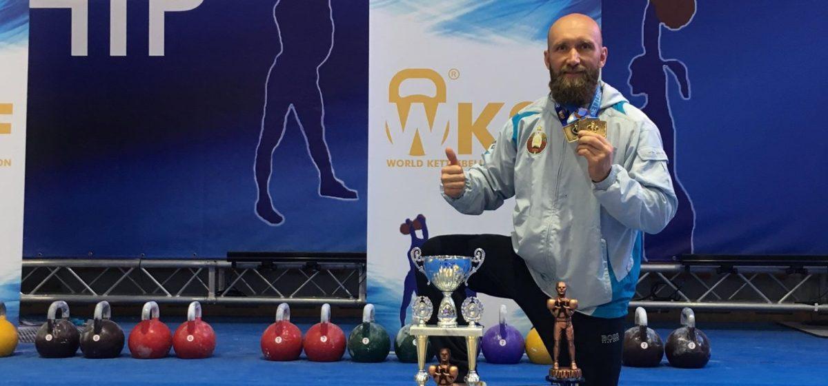 На чемпионате мира по гиревому спорту барановичский спортсмен завоевал золотую медаль