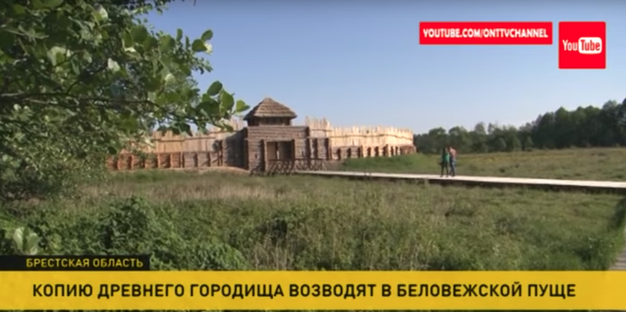 В Беловежской пуще начали строить копию древнего городища