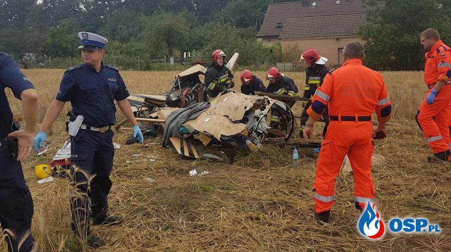 В Польше вертолет упал рядом с жилыми домами, есть погибшие