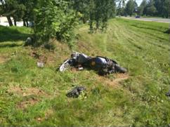В Фаниполе разбился 21-летний мотоциклист-бесправник