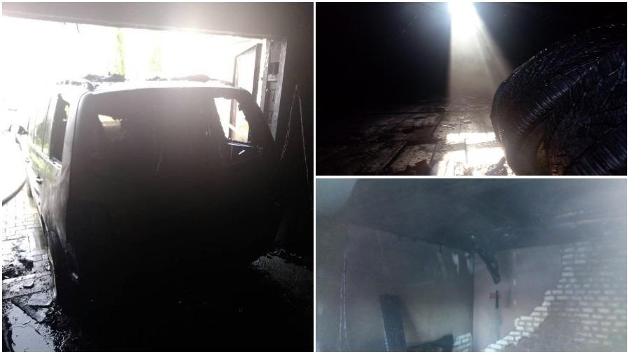 В Барановичах из-за непотушенного мангала  горел гараж с автомобилем