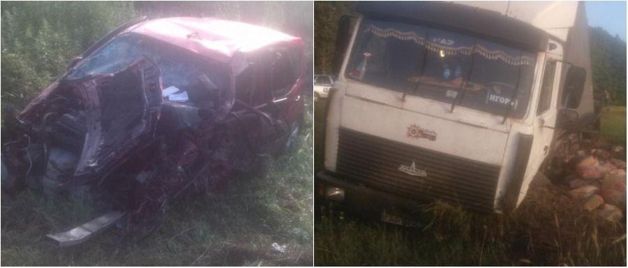В Буда-Кошелевском районе легковушка столкнулась с грузовиком, погибли два человека