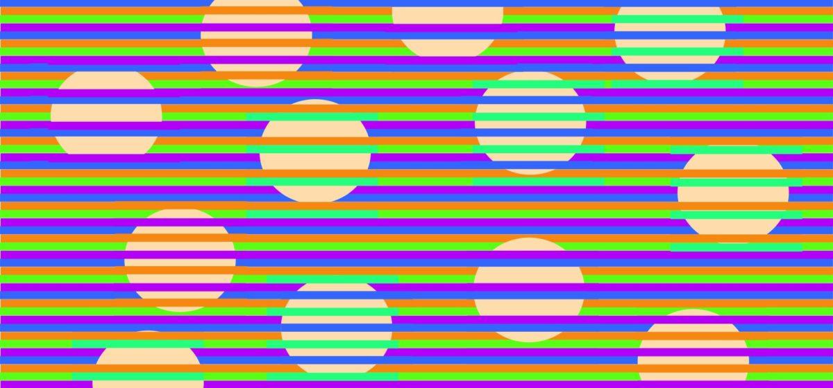 Новая иллюзия: круги, раскрашенные в четыре разных цвета (на самом деле нет)