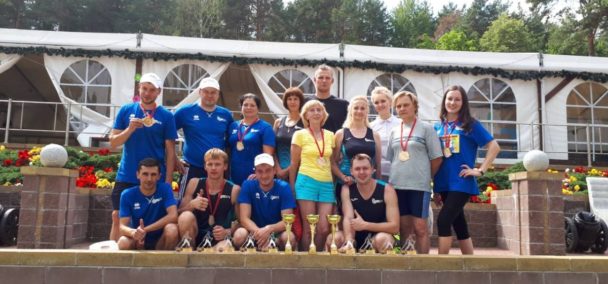 Барановичские железнодорожники заняли 3-е место в скандинавской ходьбе