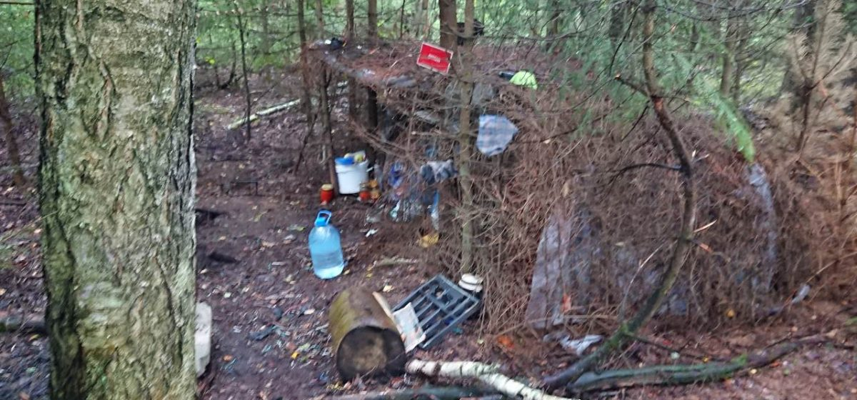 В Жодино задержали мужчину, который два года скрывался от милиции в лесу