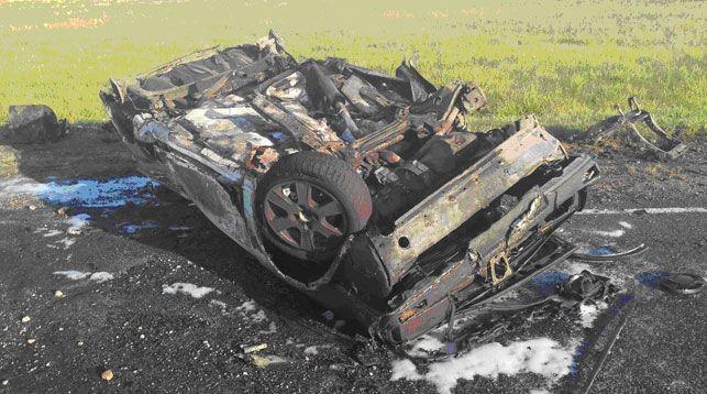 В Вороновском районе перевернулся и сгорел Volkswagen